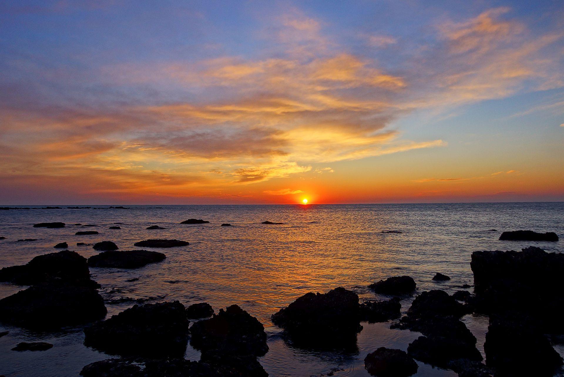 Durres zachód słońca