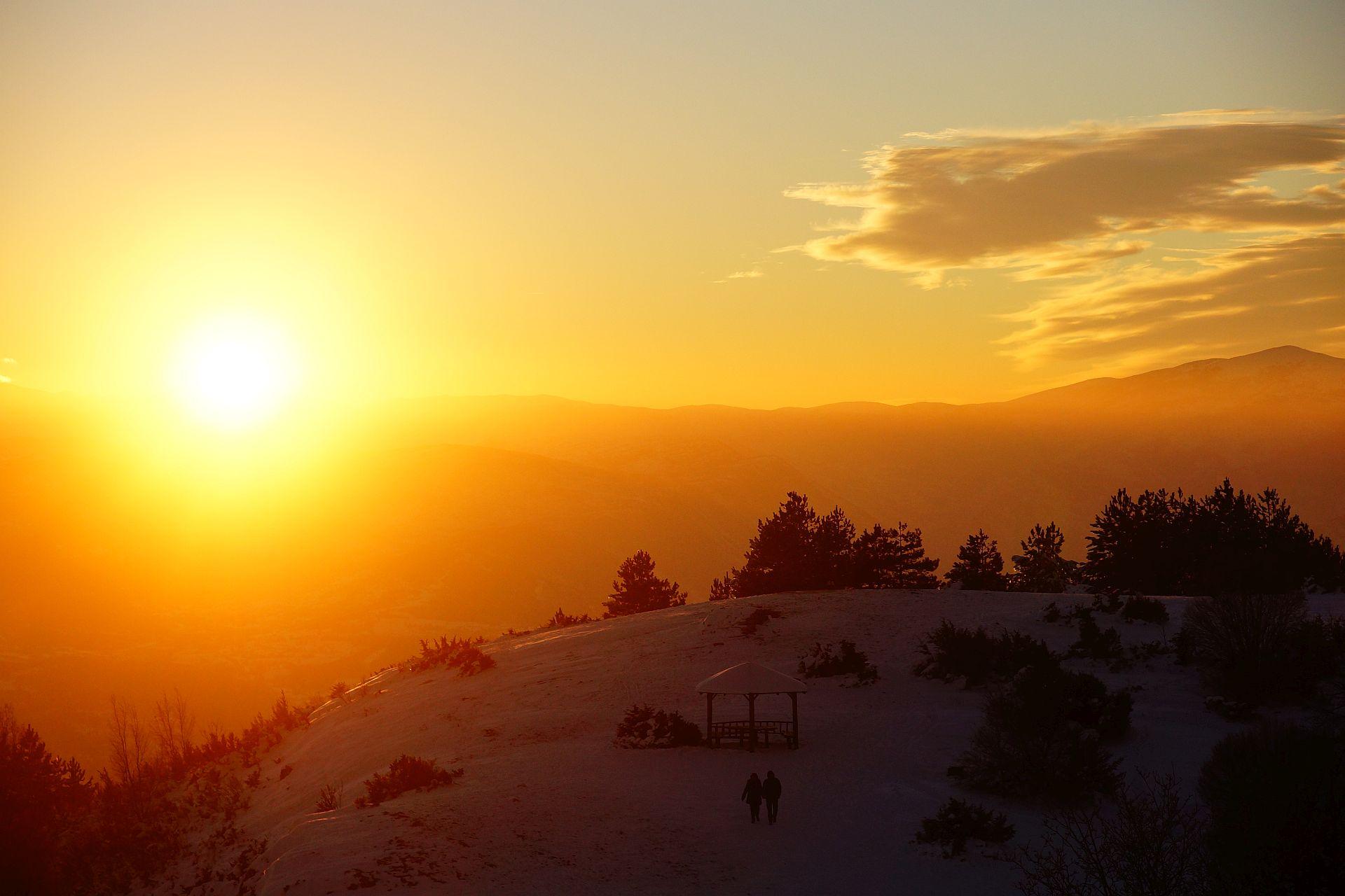 zachód słońca Vodno