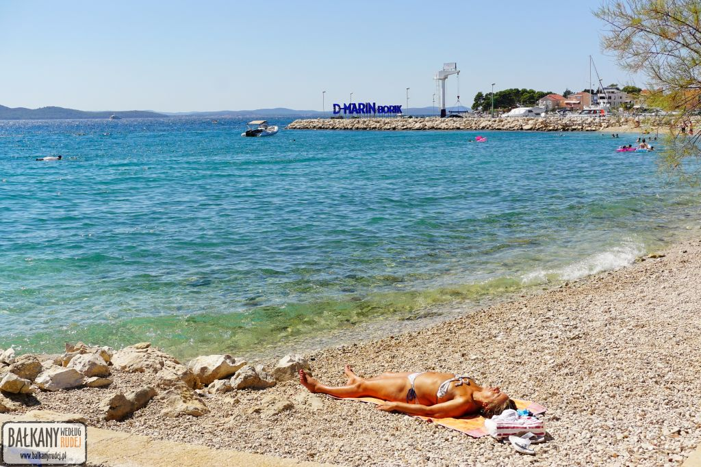 Zadar plaża Uskok