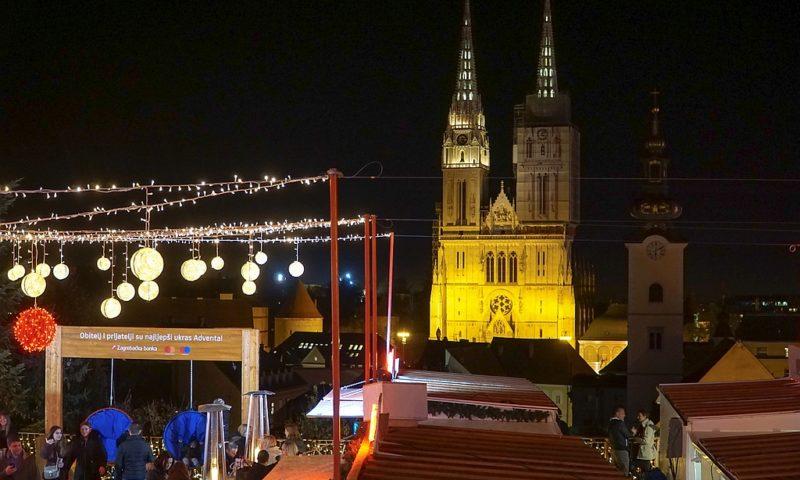 Jarmark świąteczny w Zagrzebiu