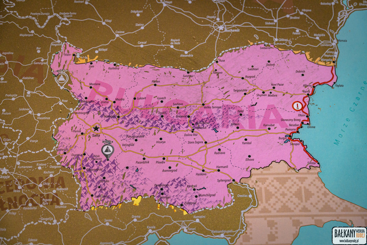 bałkany mapa zdrapka