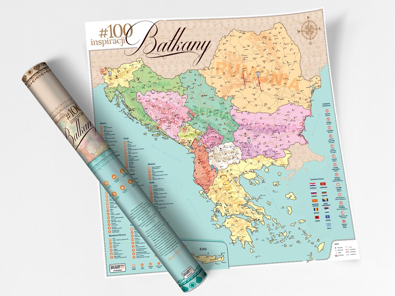 mapa zdrapka bałkany